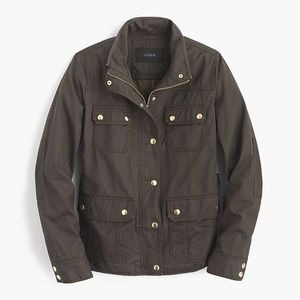 J. Crew Downtown Field Jacket Waxed Canvas